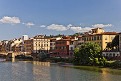 Riverside of the Arno River, Italy Royalty Free Stock Images