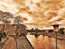 Riverside. In autumn Stock Images