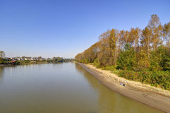 Riverside in autumn Royalty Free Stock Photography