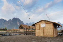 Riverside bars in vang vieng laos Stock Photography