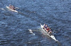 Riverside Boat Club R  and Union Boat Club L  race Royalty Free Stock Photography