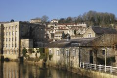 Riverside at Bradford on Avon. UK Royalty Free Stock Images
