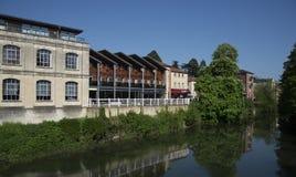 Riverside Bradford-Upon-Avon Wiltshire. Reflections Riverside Bradford-Upon-Avon Wiltshire Royalty Free Stock Images