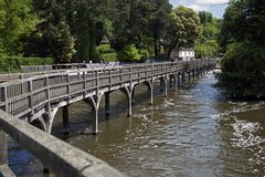 Riverside Bridge on the River Thames. Riverside Bridge at Henley-on-Thames Stock Photo