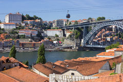 Riverside buildings, roofs em porto, portugal Stock Images