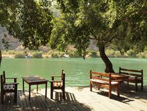 Riverside cafe, Dalyan, Turkey Royalty Free Stock Photos
