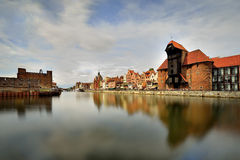 The riverside with the characteristic promenade of Gdansk, Poland Stock Photos