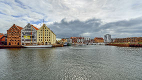 The riverside with the characteristic promenade of Gdansk, Poland Royalty Free Stock Photos
