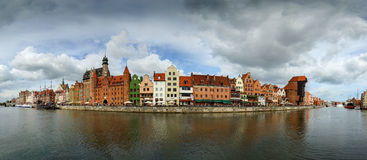 The riverside with the characteristic promenade of Gdansk, Poland Stock Image
