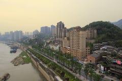 Riverside of chongqing city Royalty Free Stock Photography