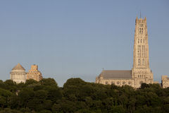 Riverside Church and  Grant's Tomb in New York City seen from the Hudson River Stock Photos