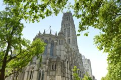 The Riverside Church in New York, USA.  stock photos