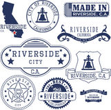 Riverside city, CA. Stamps and signs Royalty Free Stock Image