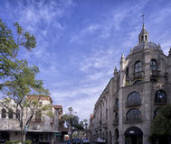 Riverside city Traditional British architecture Royalty Free Stock Photos