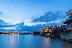 Sunset at the Chao Phraya River. Stock Image