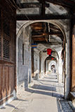 The riverside corridor in a Chinese town Royalty Free Stock Photo