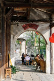 The riverside corridor in a Chinese town Stock Images