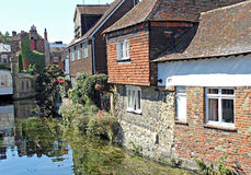 Riverside cottages Royalty Free Stock Photography