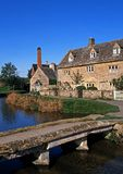 Riverside cottages, Lower Slaughter, England. Stock Photography