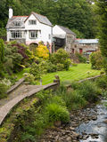 Riverside Country Hotel with Garden Stock Photo