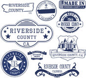 Riverside county, CA. Set of stamps and signs Royalty Free Stock Photography