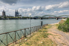 Riverside decay in Cologne Royalty Free Stock Photography