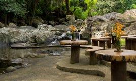 Riverside dining, Fiji highlands Stock Image