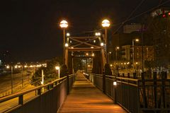 Riverside Drive Foot Bridge Memphis Stock Photo