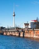 Riverside in East Berlin Stock Photography