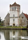 Riverside  English Village Church and Tower Royalty Free Stock Images