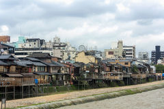 Riverside Entertainment District in Kyoto, Japan Stock Image