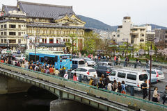 Riverside Entertainment District in Kyoto, Japan Stock Photography