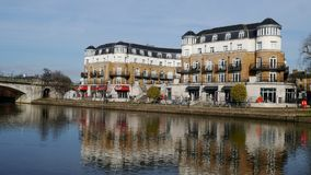 Free Riverside Flats On The River Thames In Staines Surrey Uk. Stock Photography - 109475582