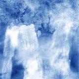 riverside Fundo pintado da aguarela mão abstrata Textura azul Imagem de Stock