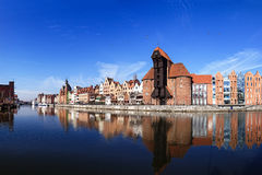 Riverside of Gdansk. The riverside with the characteristic crane of Gdansk, Poland Royalty Free Stock Photo