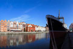 Riverside of Gdansk Royalty Free Stock Image