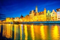 Riverside in Gdansk Stock Images