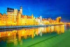 Riverside in Gdansk Stock Photos
