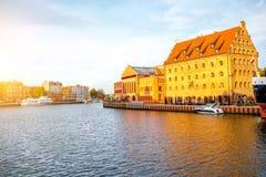 Riverside in Gdansk Royalty Free Stock Images