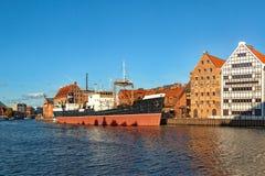 Riverside of Gdansk Royalty Free Stock Photo