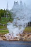 Riverside Geyser eruption  in Yellowstone National Park, USA Royalty Free Stock Image