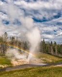 Riverside Geyser rainbow Stock Photos