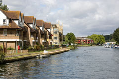 Riverside homes, Reading, Berkshire Stock Photo