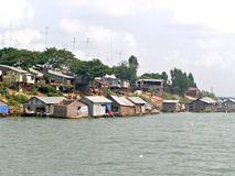 Free Riverside Houses In Cambodia Royalty Free Stock Photography - 66875777