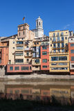Riverside Houses in Old Town of Girona Stock Photo