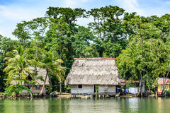 Free Riverside Houses On Stilts, Central America Royalty Free Stock Photos - 81234088
