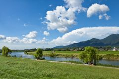 Riverside landscape of summer Royalty Free Stock Photography