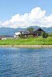 Riverside landscape of summer Royalty Free Stock Image