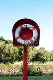 Riverside lifebuoy Royalty Free Stock Photos