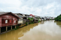 Riverside local residences. Local residences by the river in Chanthaburi province, Thailand Stock Photography